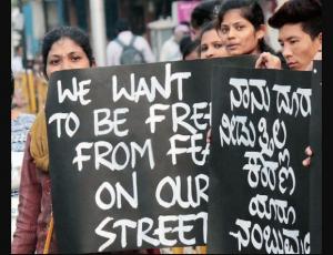 Women protest over harrassment
